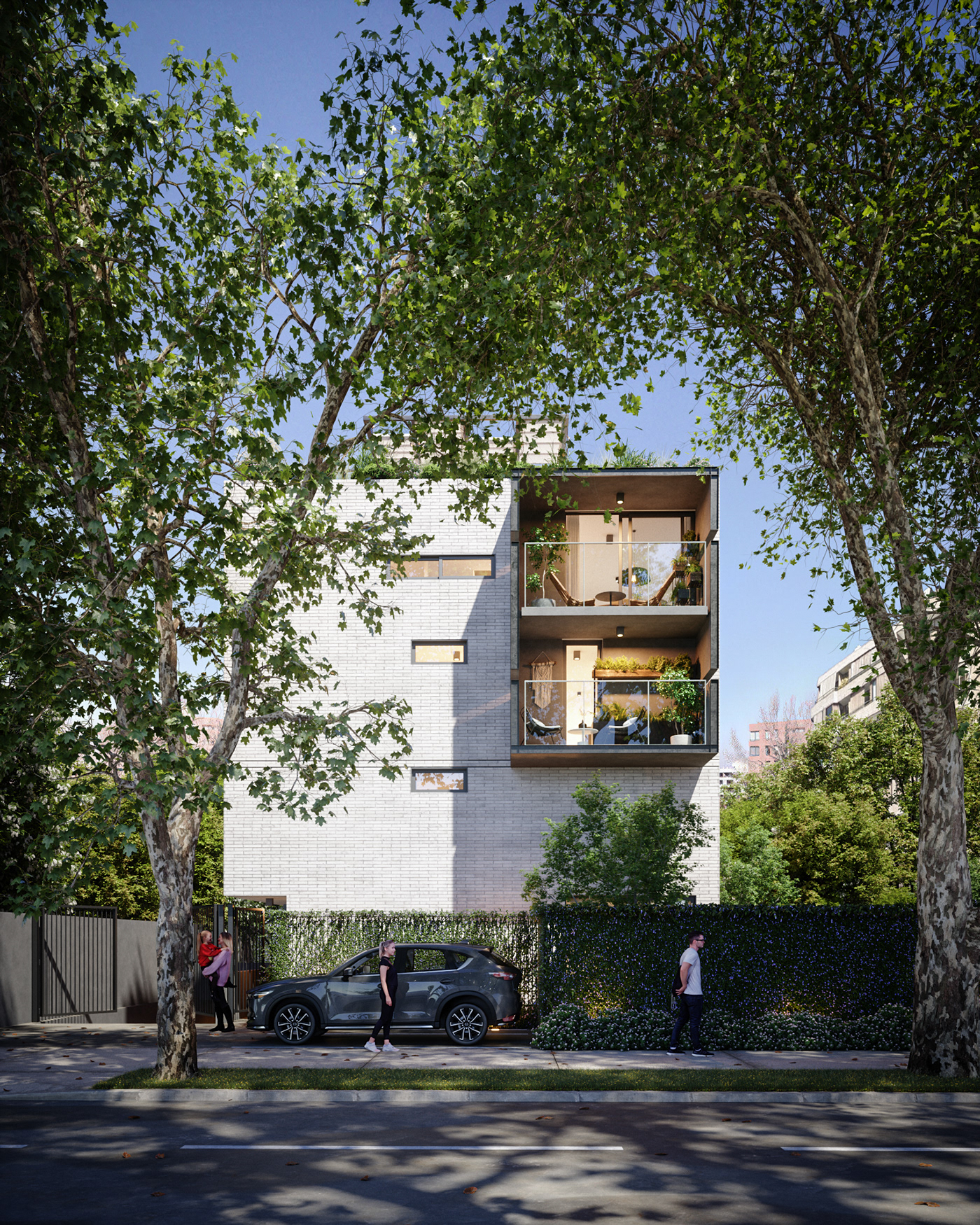 3D architecture CGI FStorm garden green house Render visualization