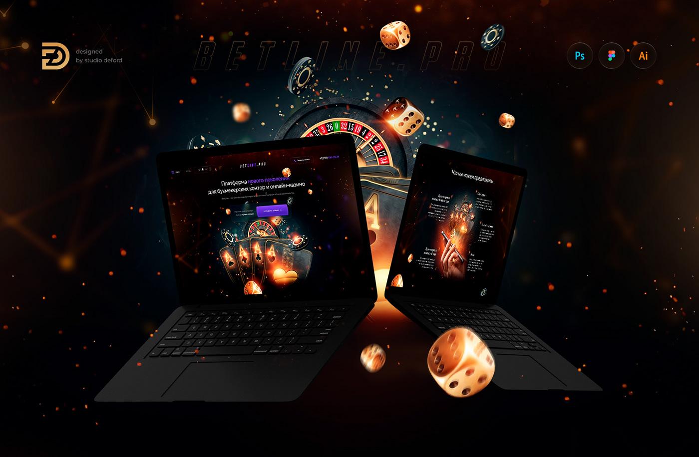 betting casino Figma landing казино  Betting Sports landing page sport Web Design  web site