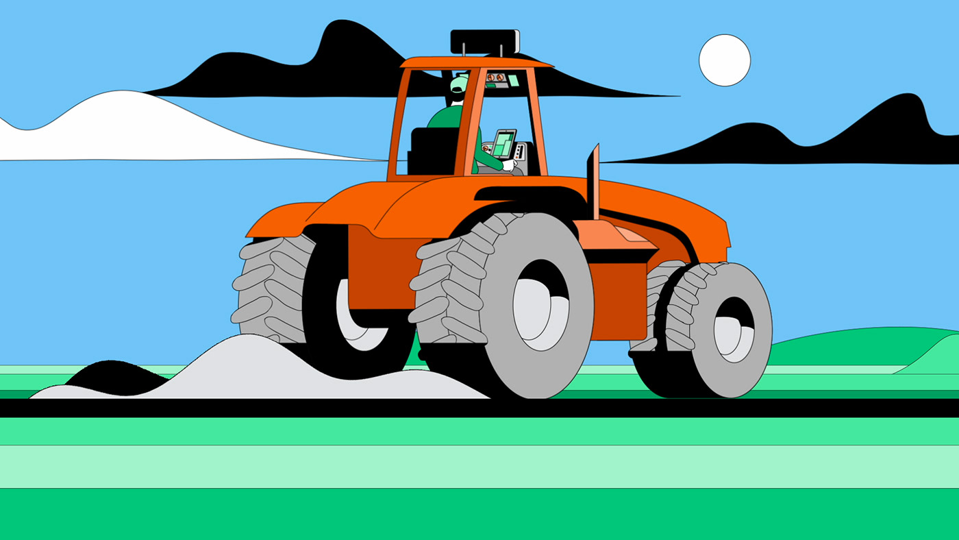 Image may contain: tractor, wheel and vector graphics