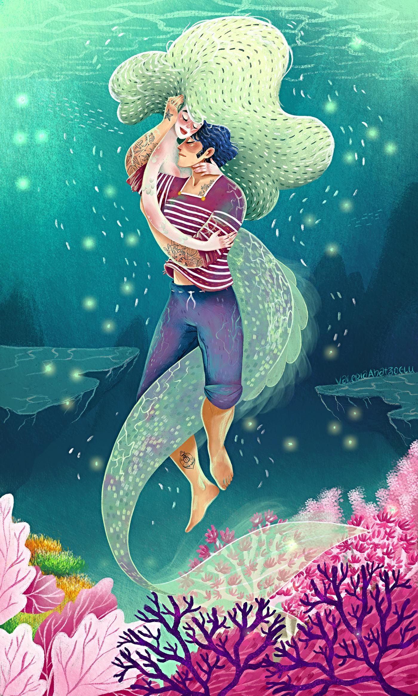 Pretty mermaid swimming underwater 369812 - Download Free