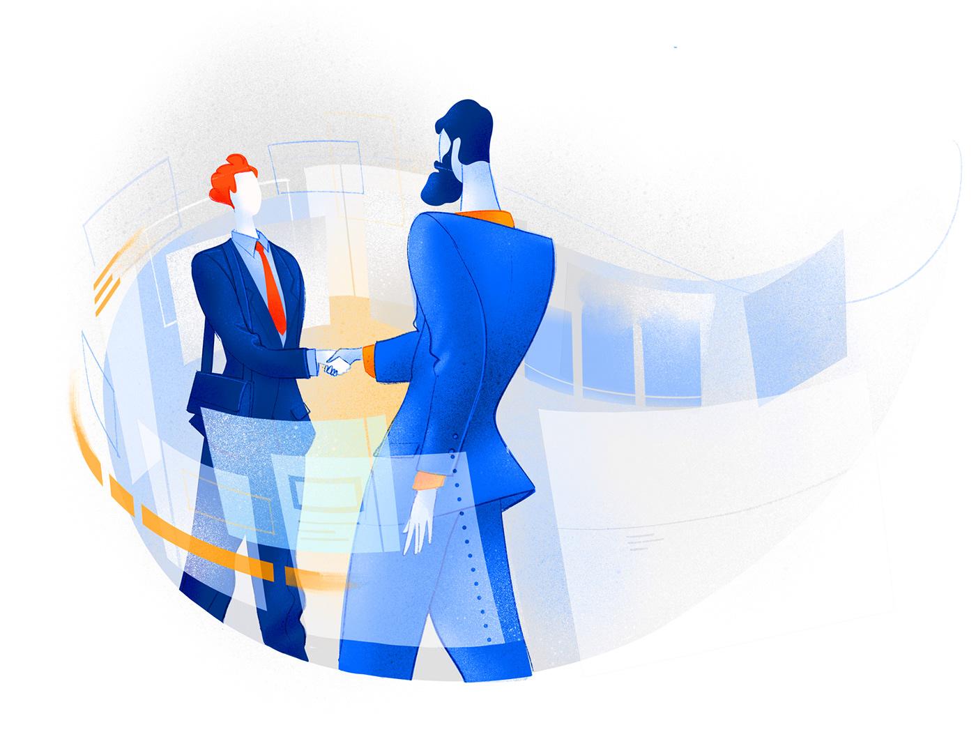 Digital tool Mobile app ILLUSTRATION  vector Drawing  Illustrator hero image homepage landing page design