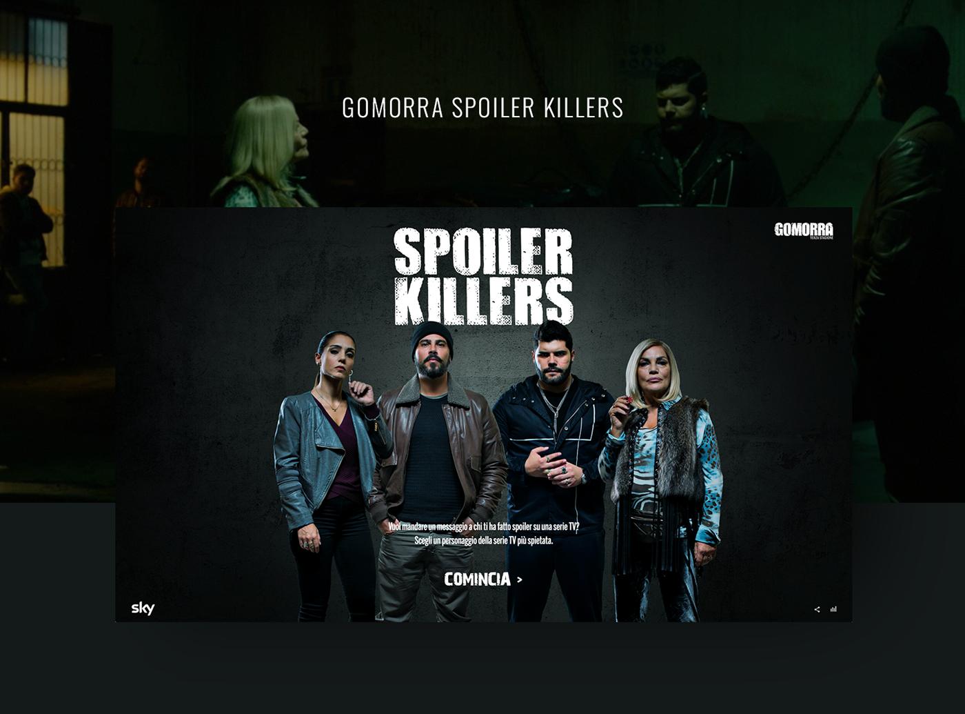 gomorra gomorrah spoiler tv series SKY interaction UI ux