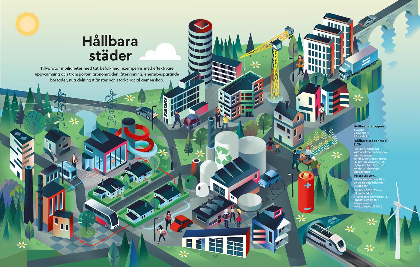 sustainable cities on behance
