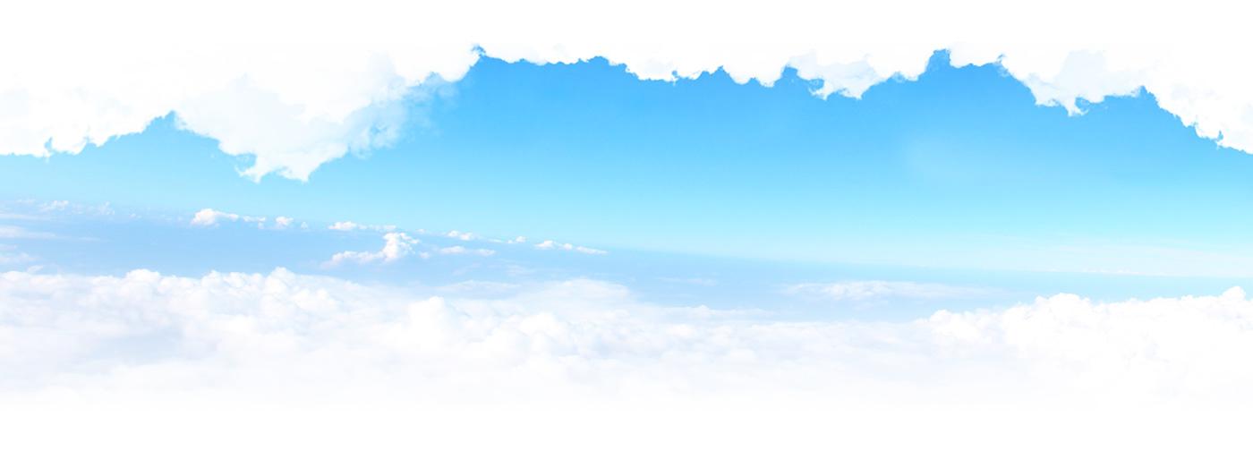 Parachute Skydiving blue motion clouds parallax sport extreme concept White
