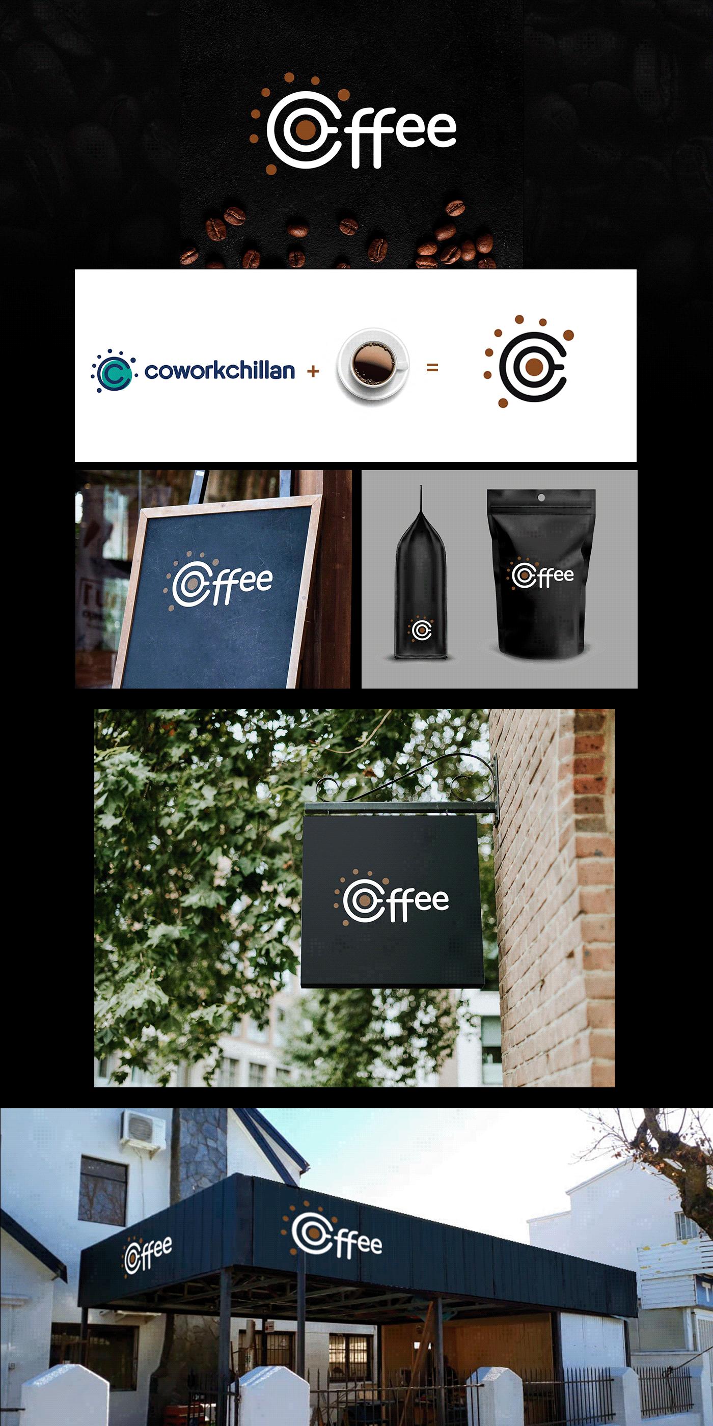 branding  cafe chile chillan Coffee cowork logo marca