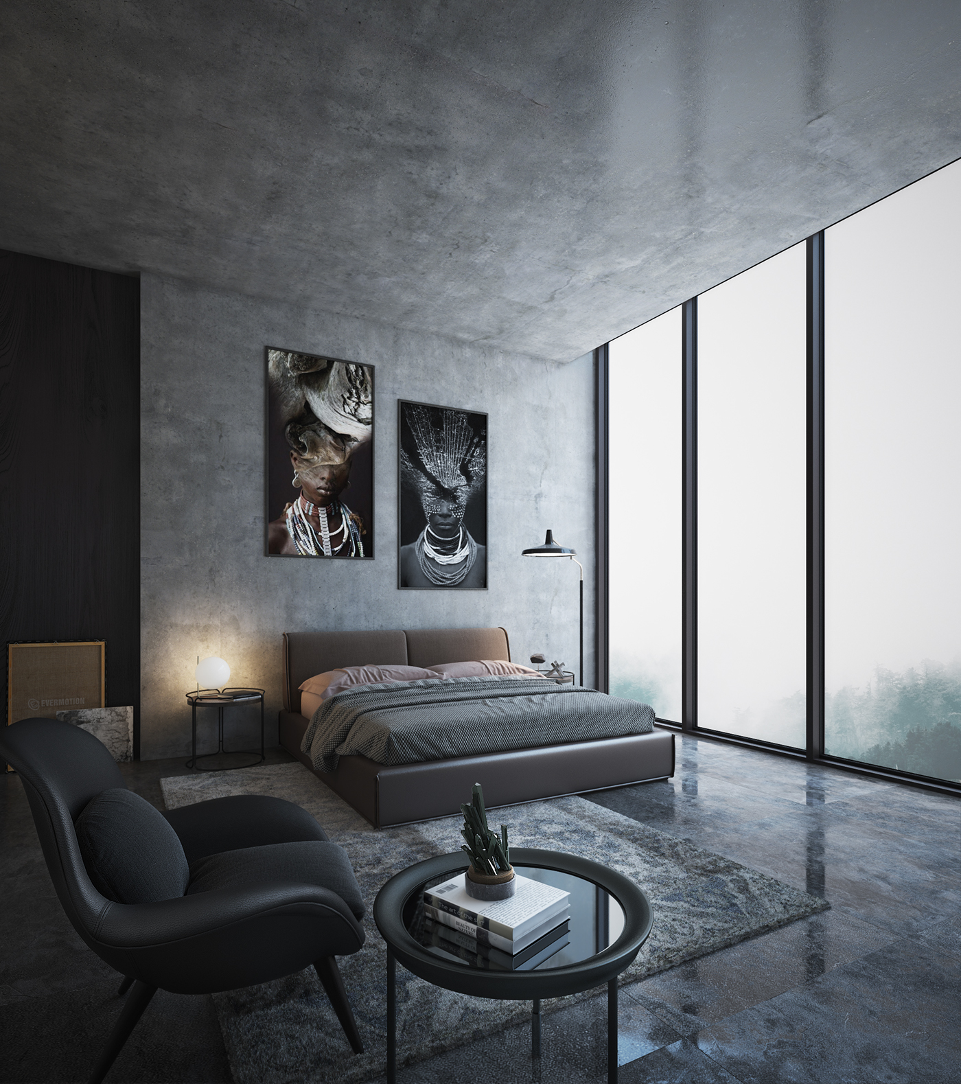 Free 3d interior scene on behance for 3d interior design online
