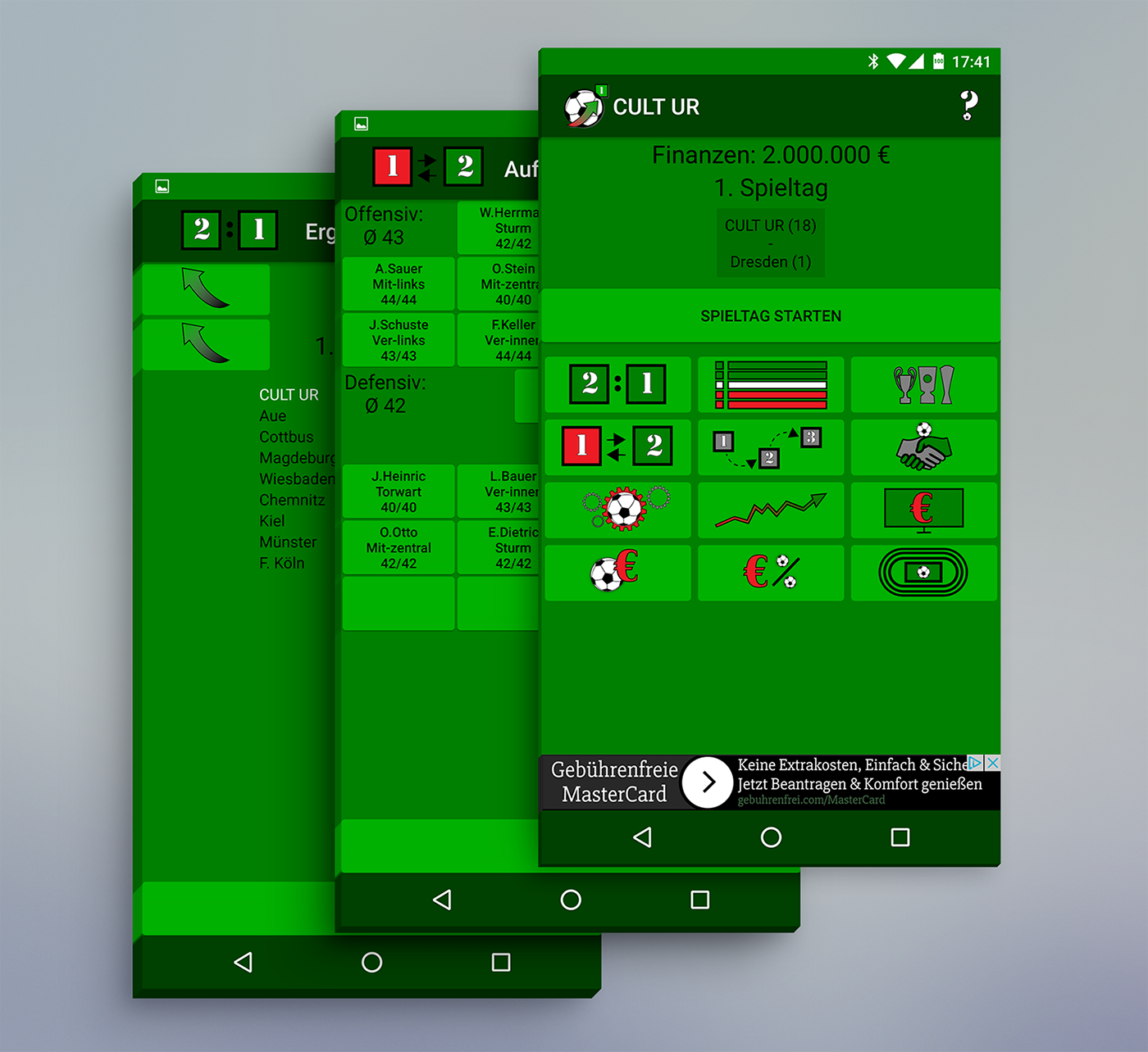 Aufstieg Fussball Manager App Logo Grafik Design On