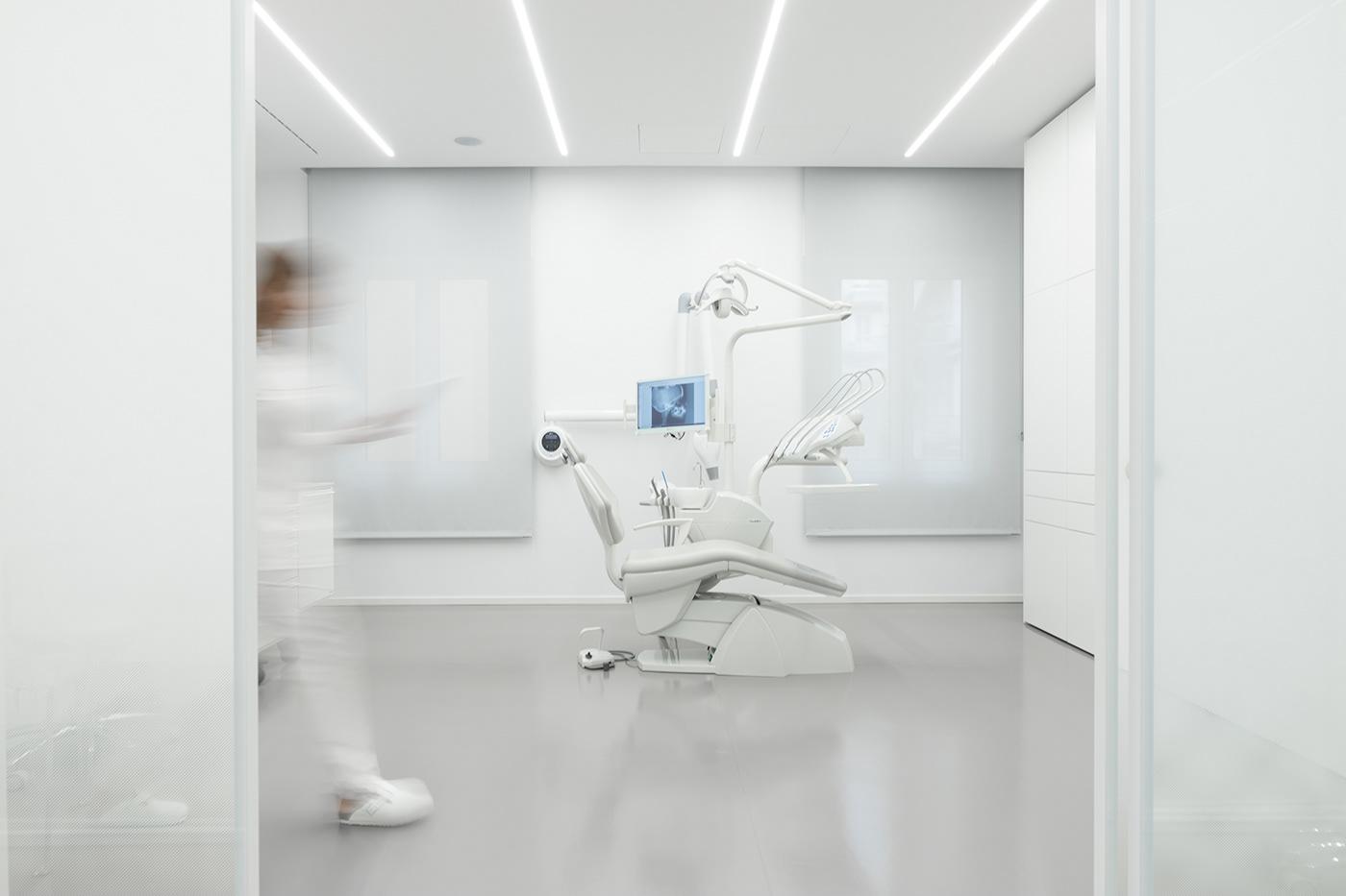 dental technician studio pratice Interior laboratory dentist minimal White Advertising