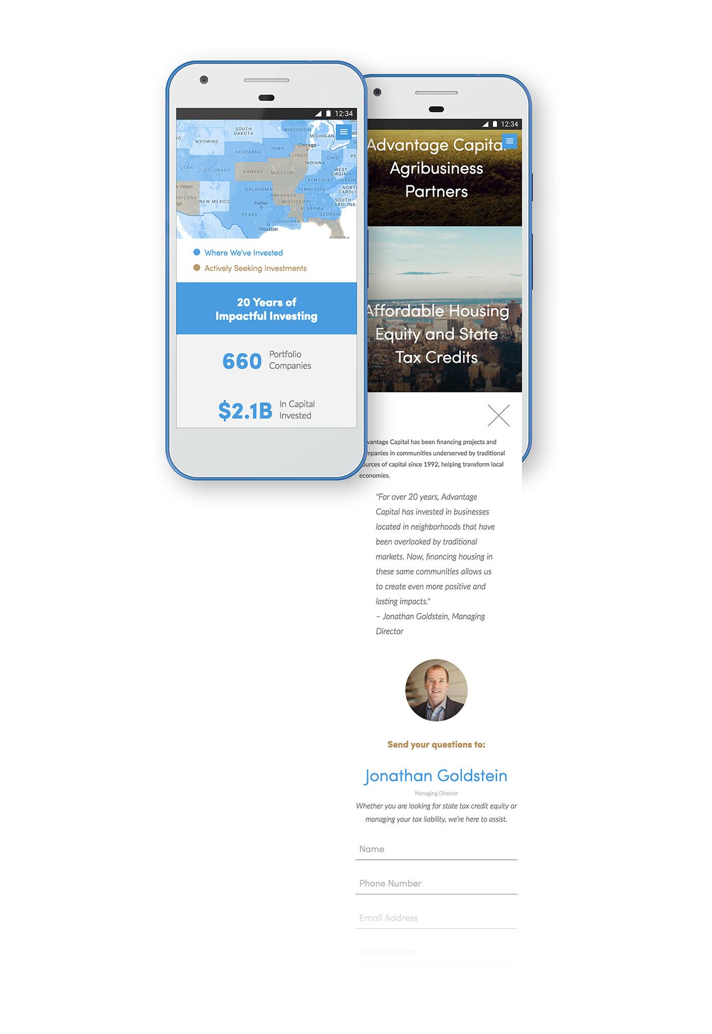 advantage capital UI Web print design identity ux