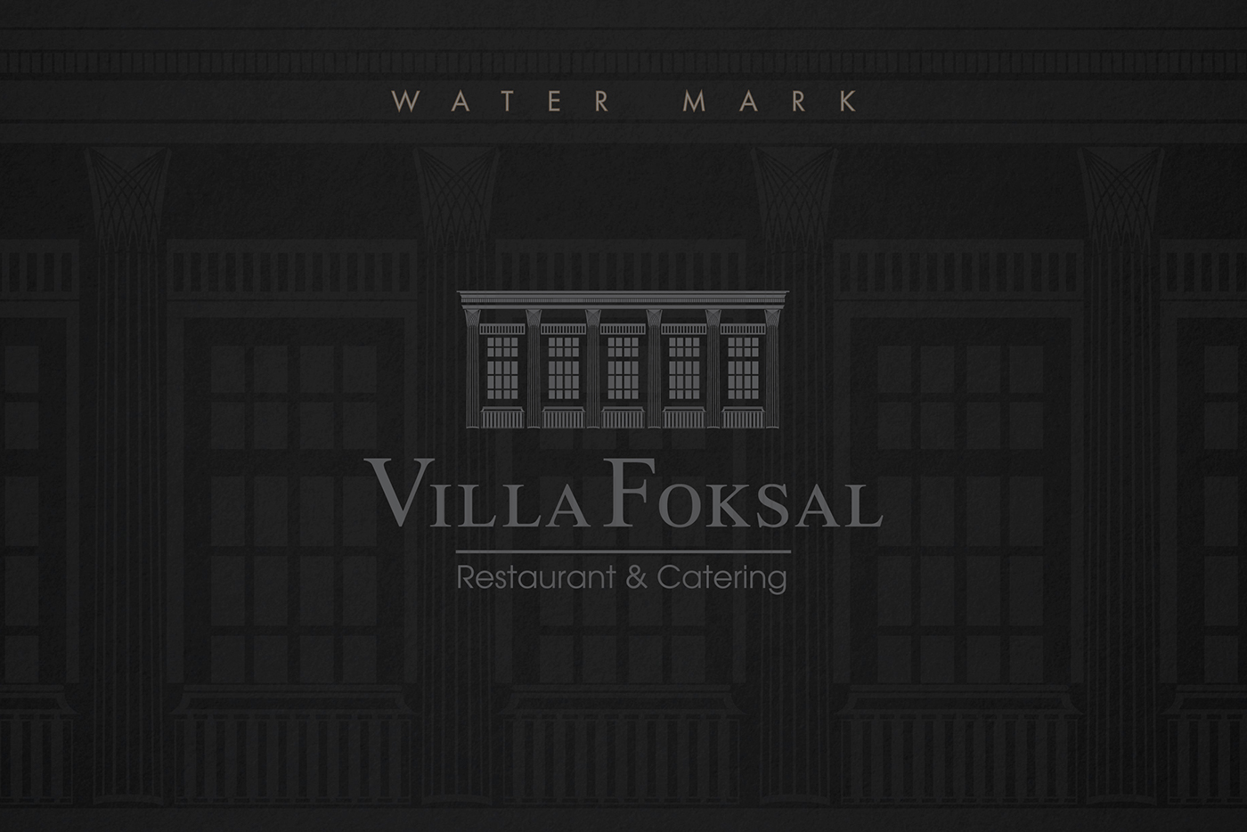 logo design branding  luxury grey architecture brand elegant restaurant Villa