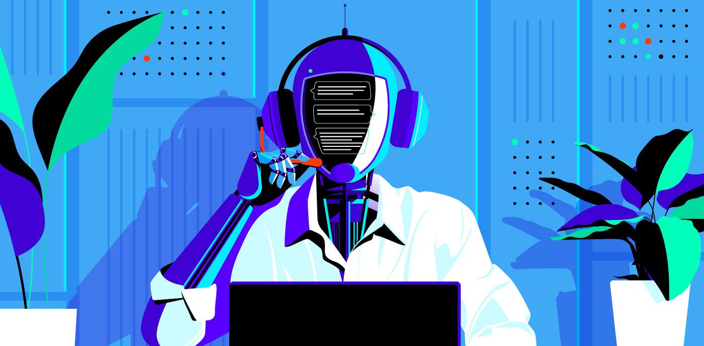 blockchain Technology ILLUSTRATION  robot bitcoin Blog editorial