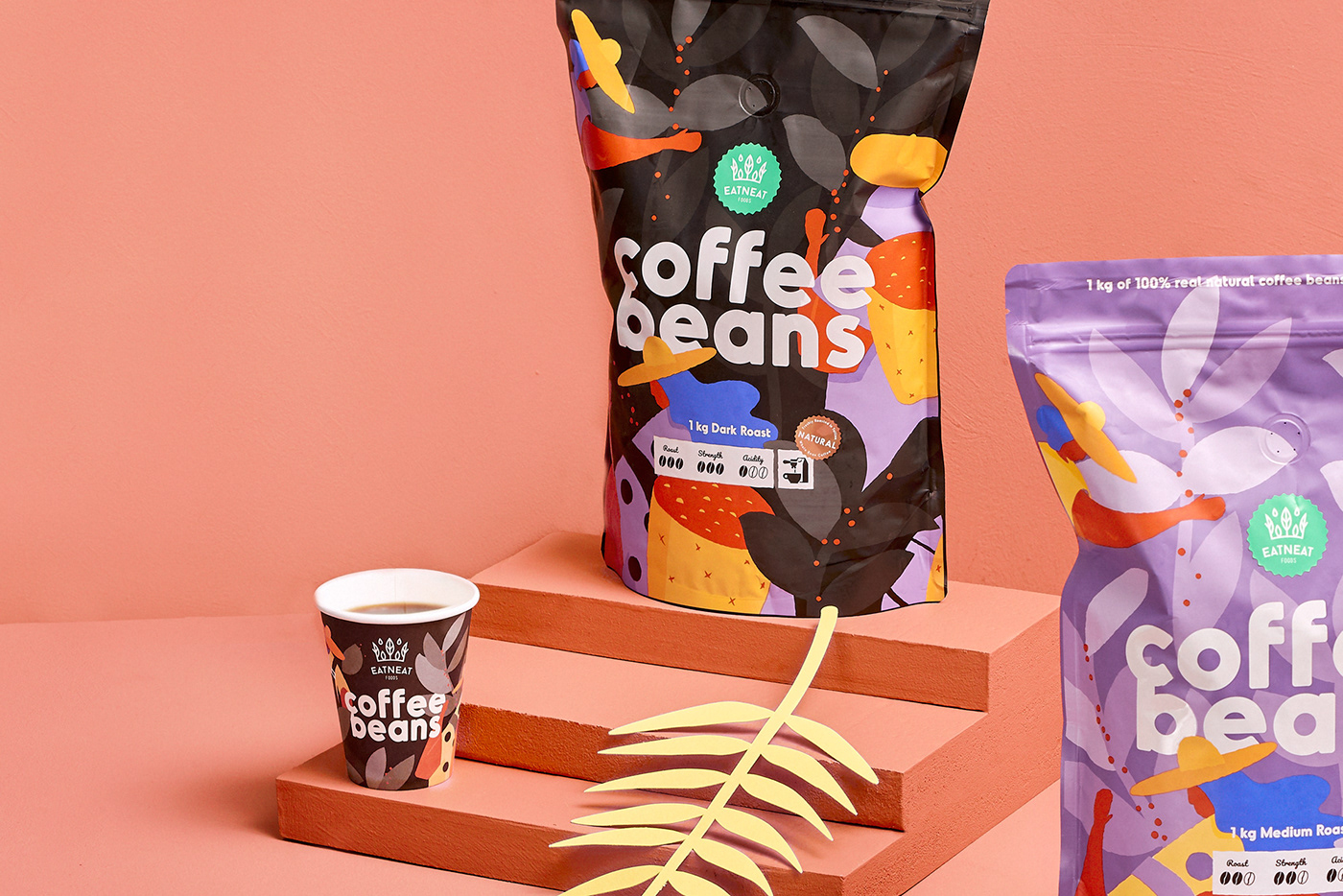 Estonia Coffee Packaging Food  design ILLUSTRATION  beverage branding  hmmm creative Lovely Package