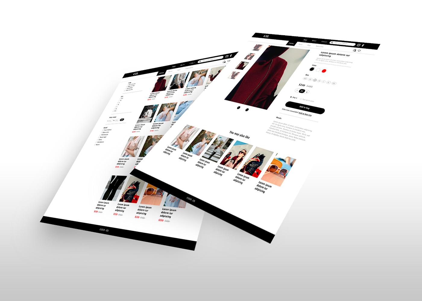 Virtual Store Web Design  design user interface UI ux graphic design  visual design inspiration