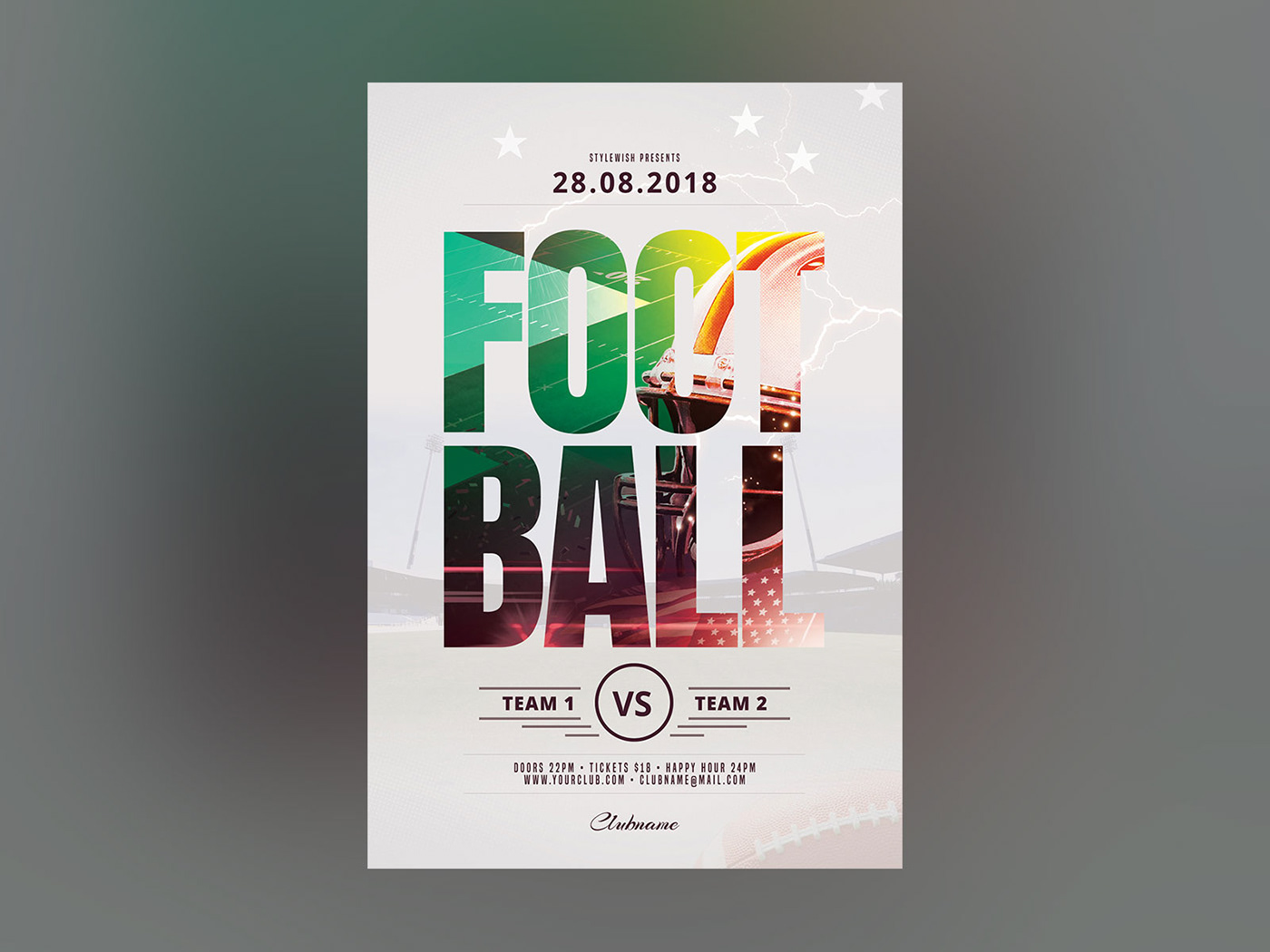 football flyer on behance