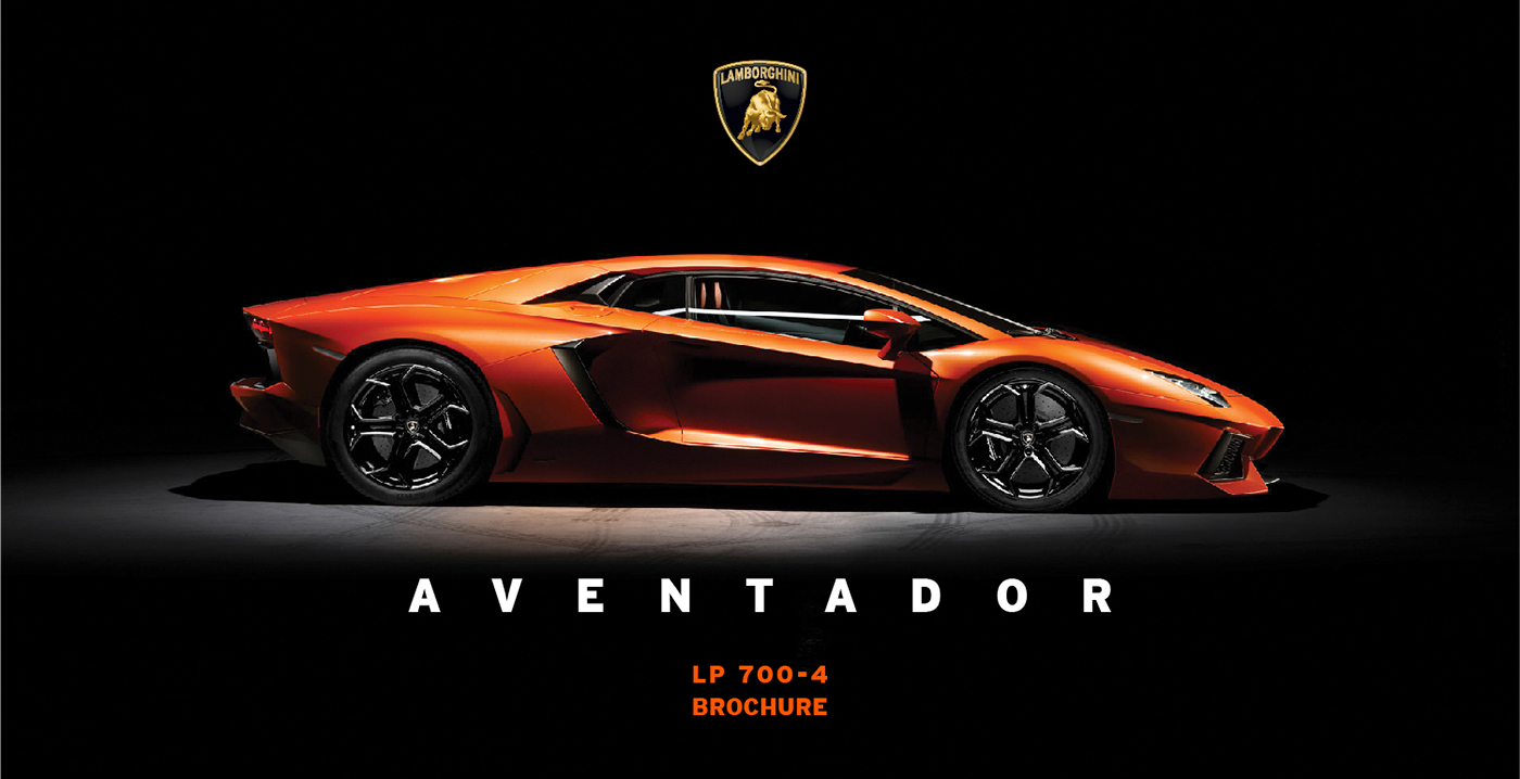 Lamborghini Aventador: Brochure on Behance