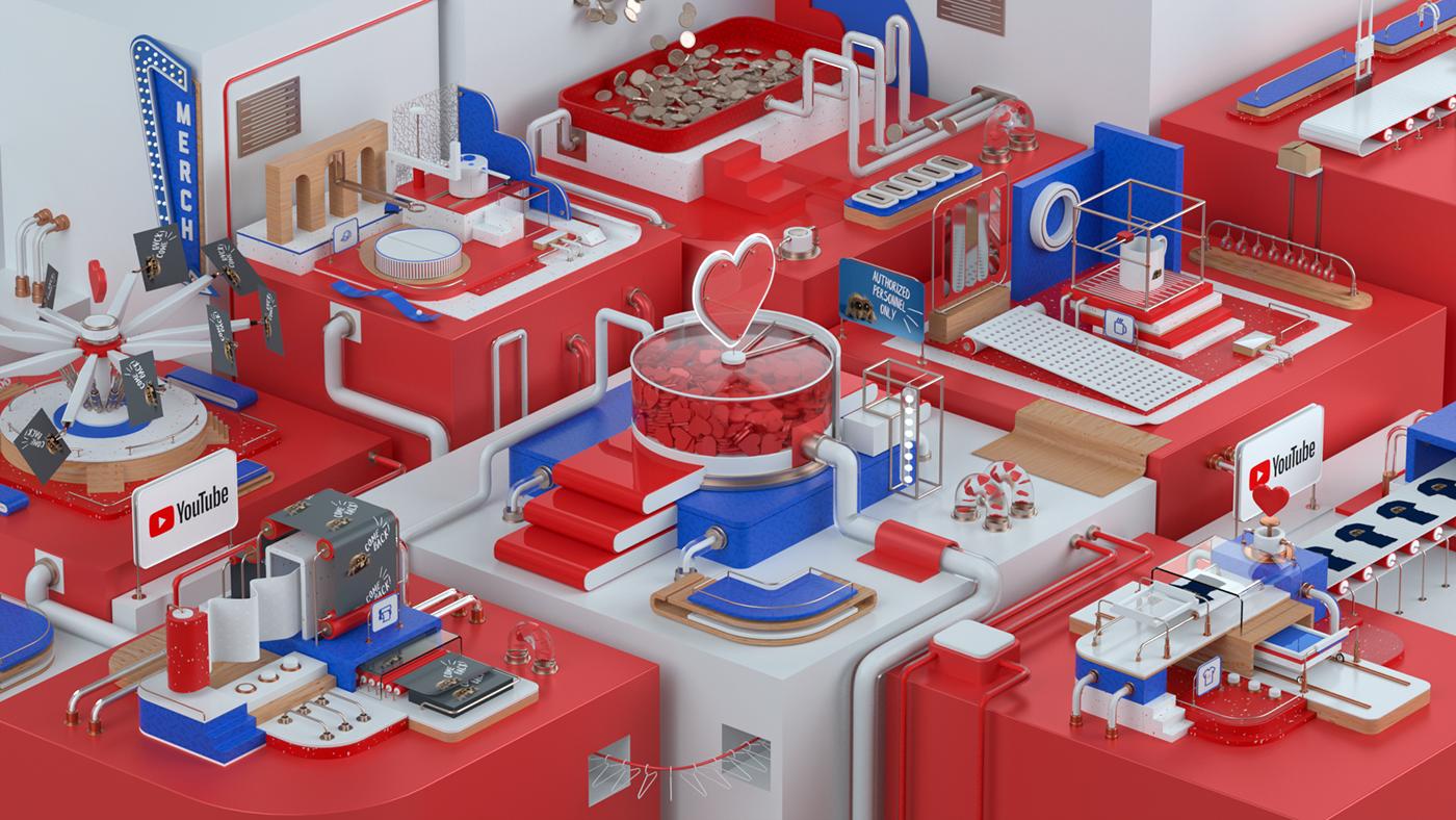 motion 3D animation  cinema 4d graphics design video
