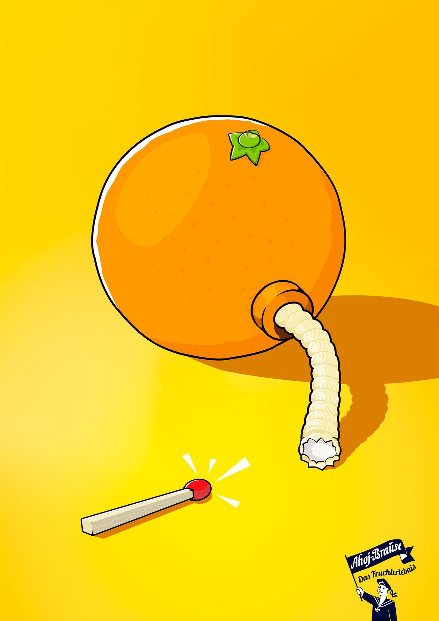 Ahoj Brause ballon  orange lemon bomb fire  pulver pichler  warzilek vienna  Austria Adronauts