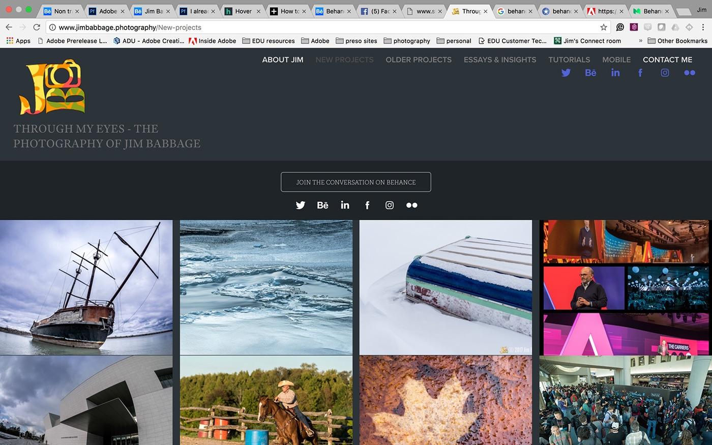 domain name Adobe Portfolio Website branding  Promotion