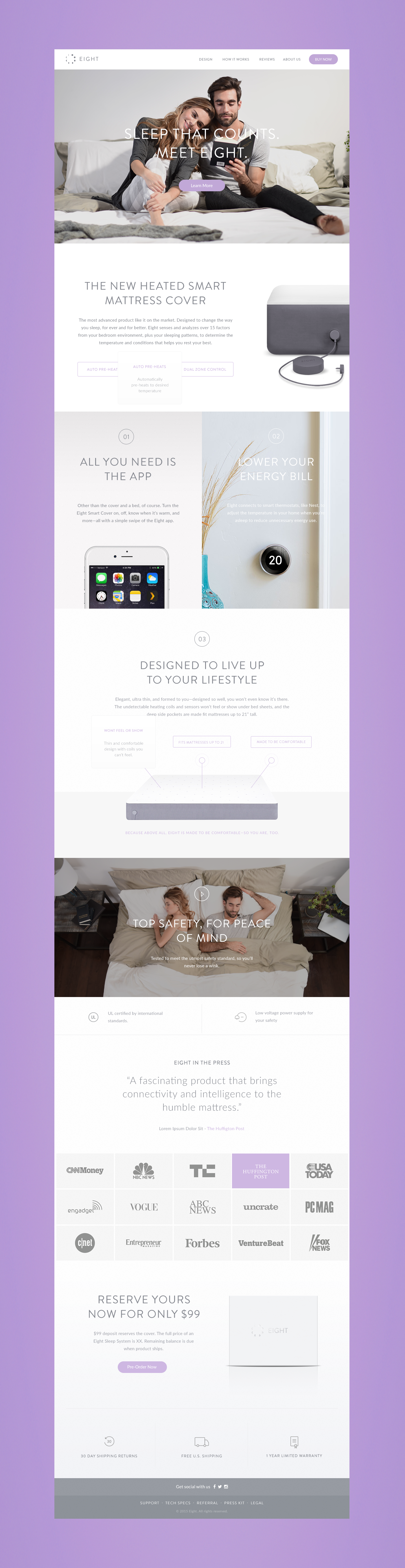 matress cover sleep night moon phases Eight calm peacefulness Smart Internet of Things