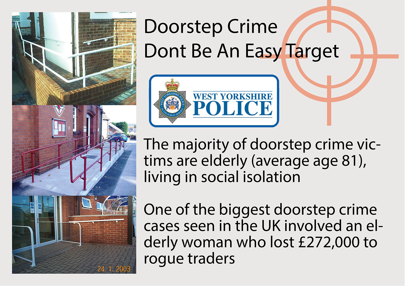 Handrail detachable doorstep   crime police ageuk