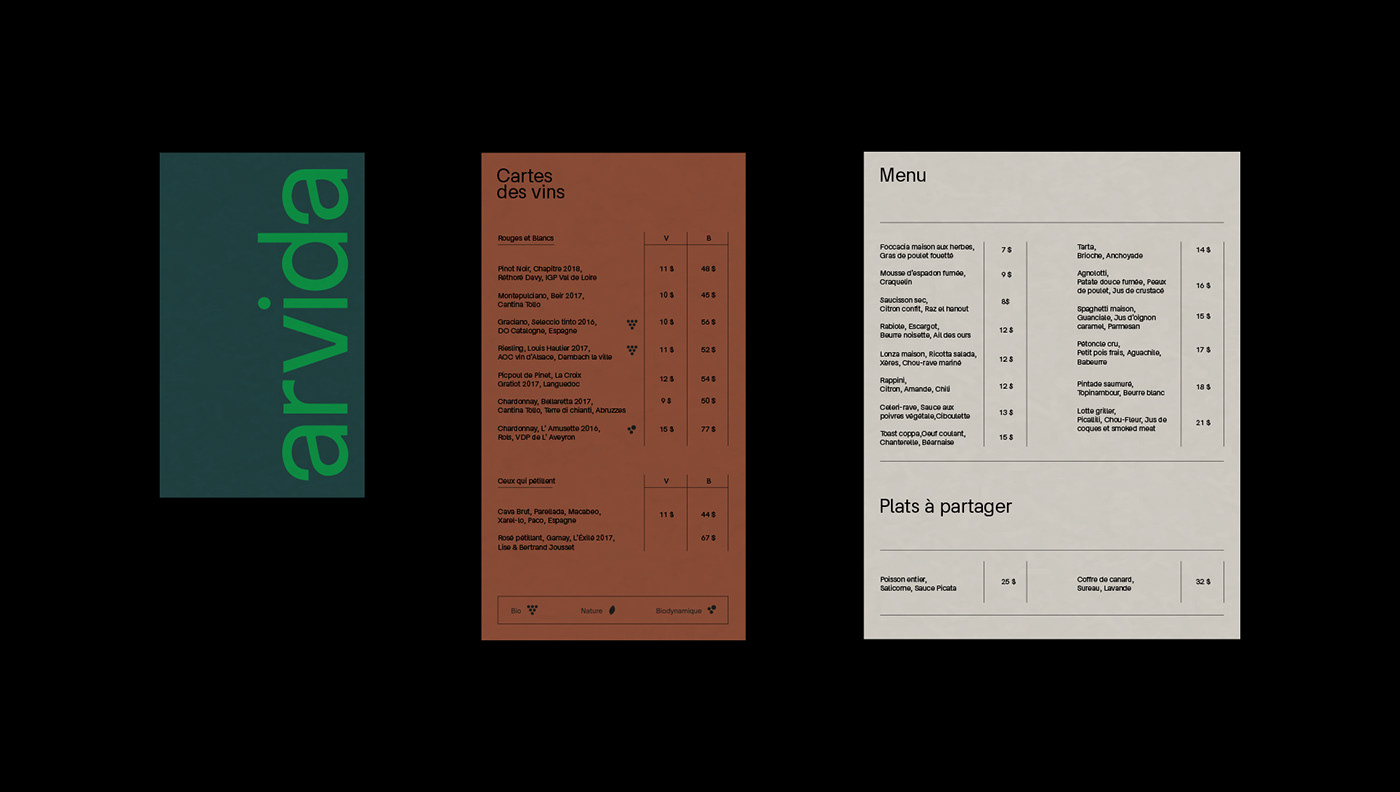 brand Food  menu restaurant
