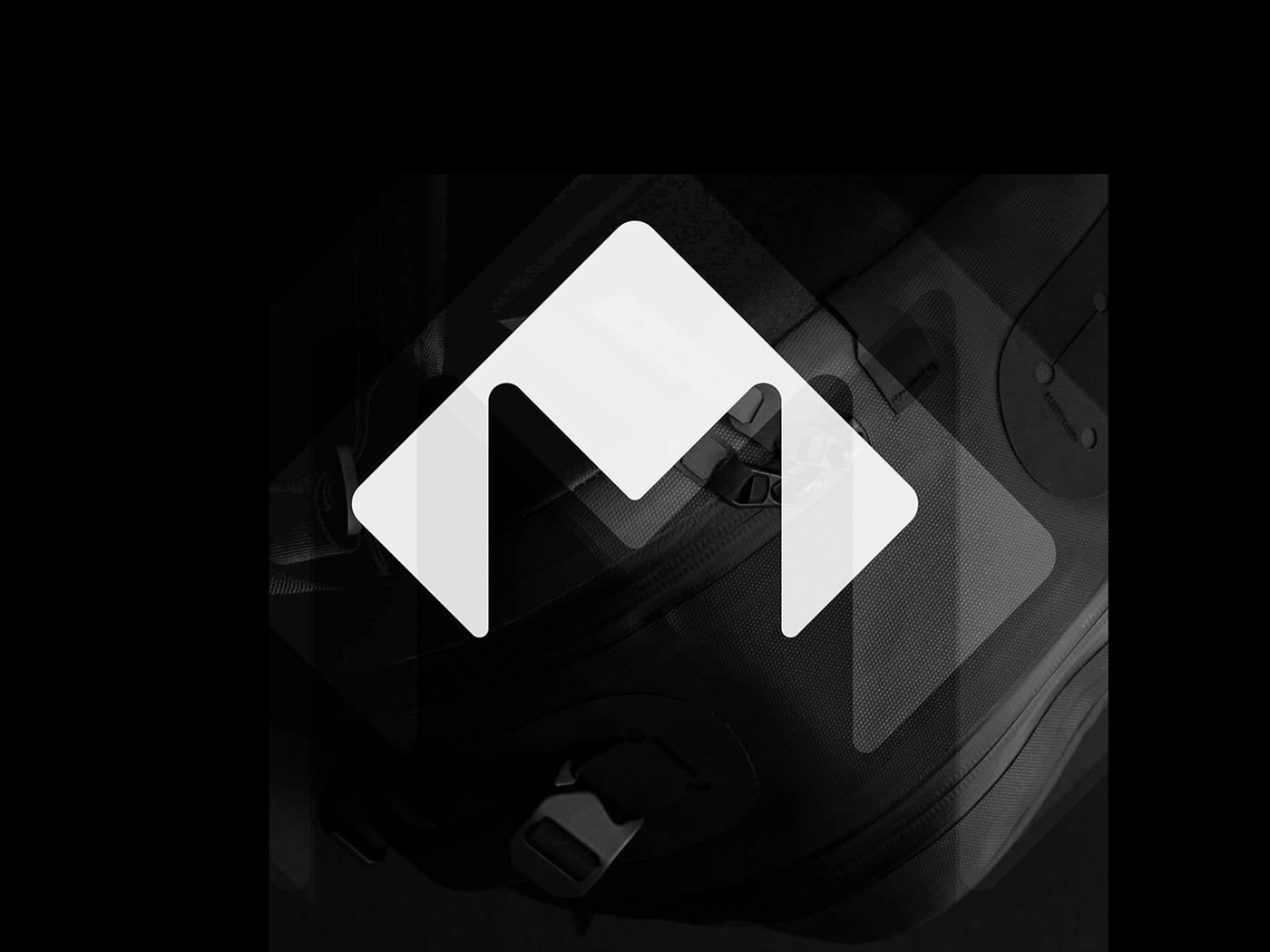 backpack industrial Letter Mark Logo Design M logo milano minimal modern modular product design