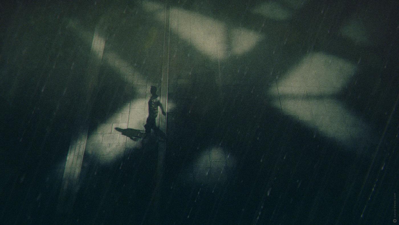 Image may contain: rain