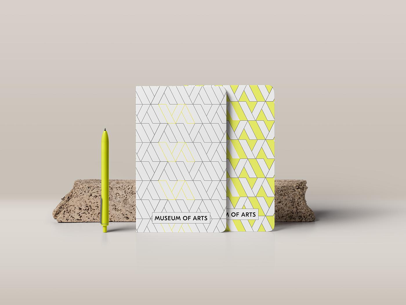 museum branding  logo design notebook