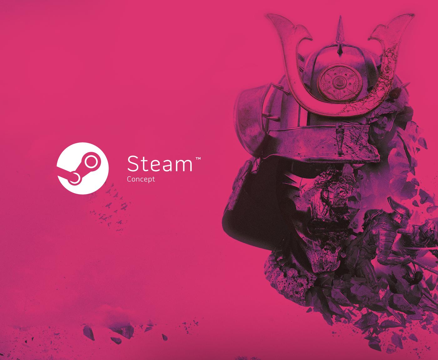 Steam store Valve Web Design  UI/UX interactive re-design concept Gaming Gamer