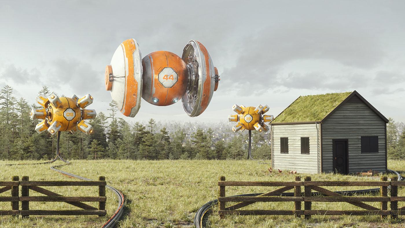 3D c4d cinema 4d impact mech mindofimpact Nature octane photoshop Substance Painter