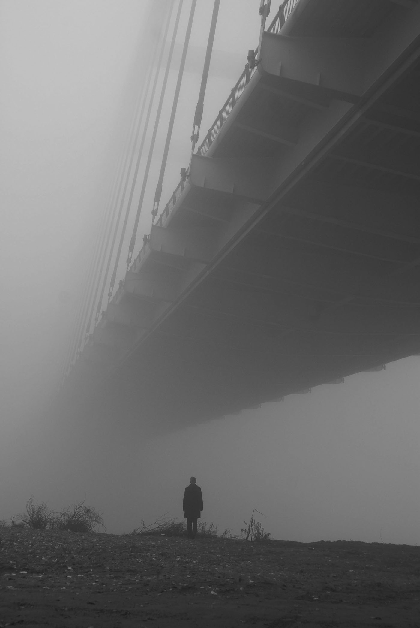 Bridge in the fog | Łukasz Breitenbach