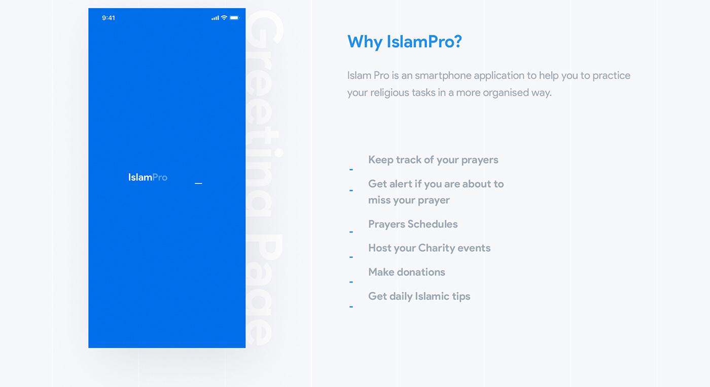 islam ramadan prayer mobile application app design interaction Experience