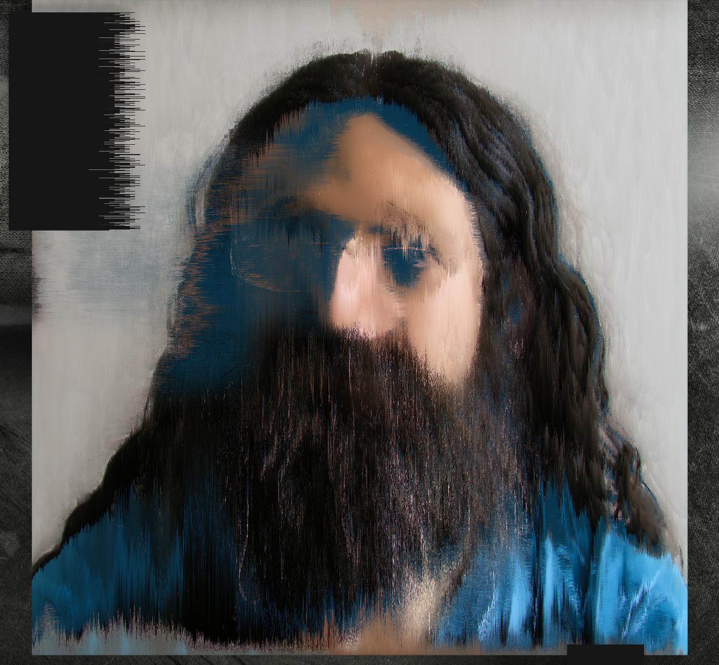 portrait pixel sorting datablending Glitch Renaissance Cyberpunk
