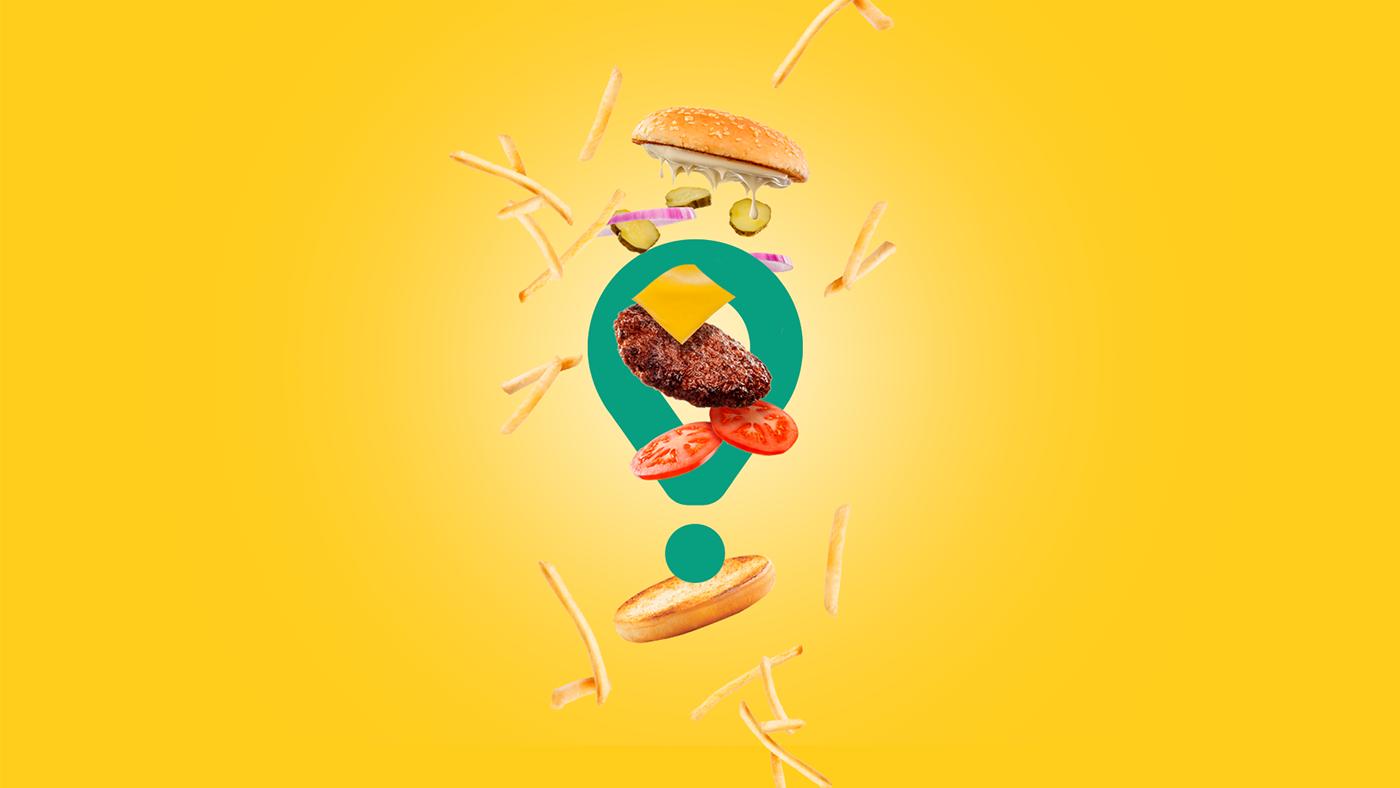 branding  delivery design Food  glovo groceries restaurants Advertising  burger Sushi