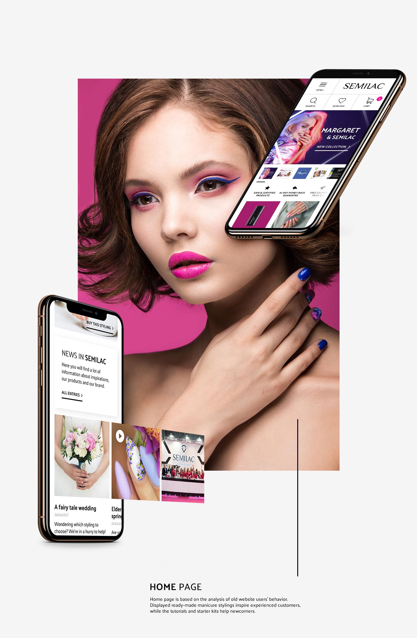 e-commerce semilac Platform manicure make-up nails UV hybrid magento www