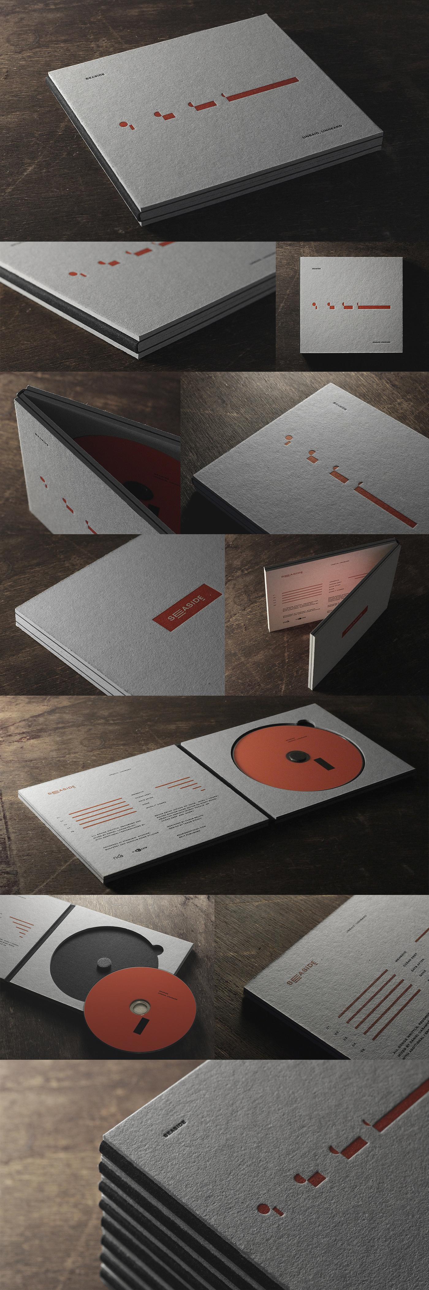Seaside Album identity cd cover package letterpress albumcover dream time