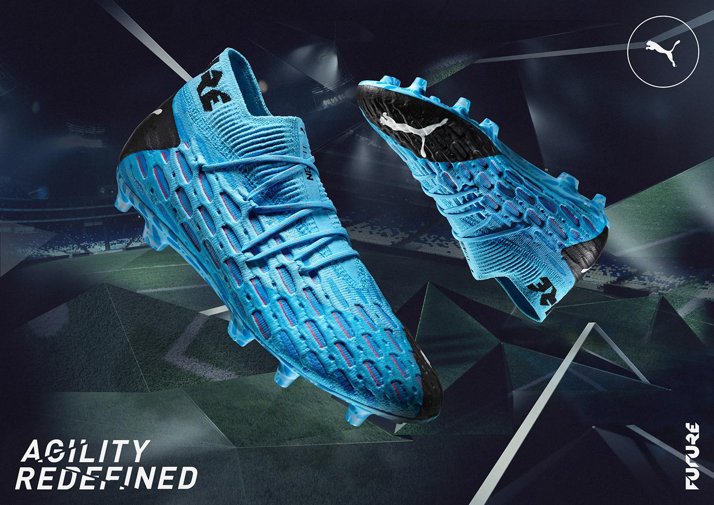 3D CGI cinema4d football game player puma Render soccer sport