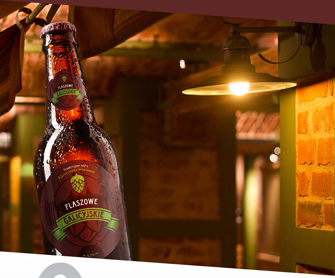 flaszowe galicyjskie flaszowe galicyjskie beer Beer Branding traditional beer Traditional Galician Galician Beer piwo galicyjskie piwo manufaktura Galicja manufaktura Beer Packaging etykiety