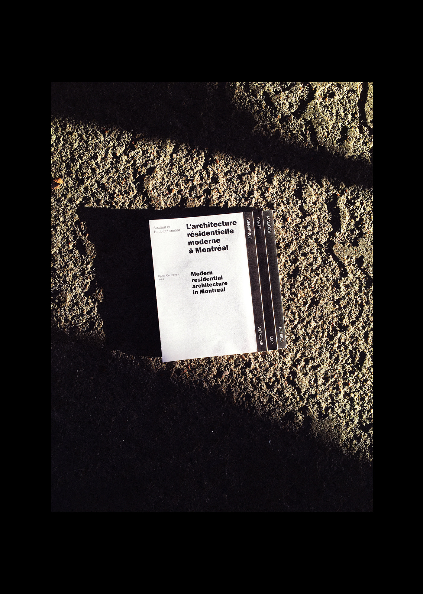 architecture bilingual depliant design flyer graphic graphique information Montreal print