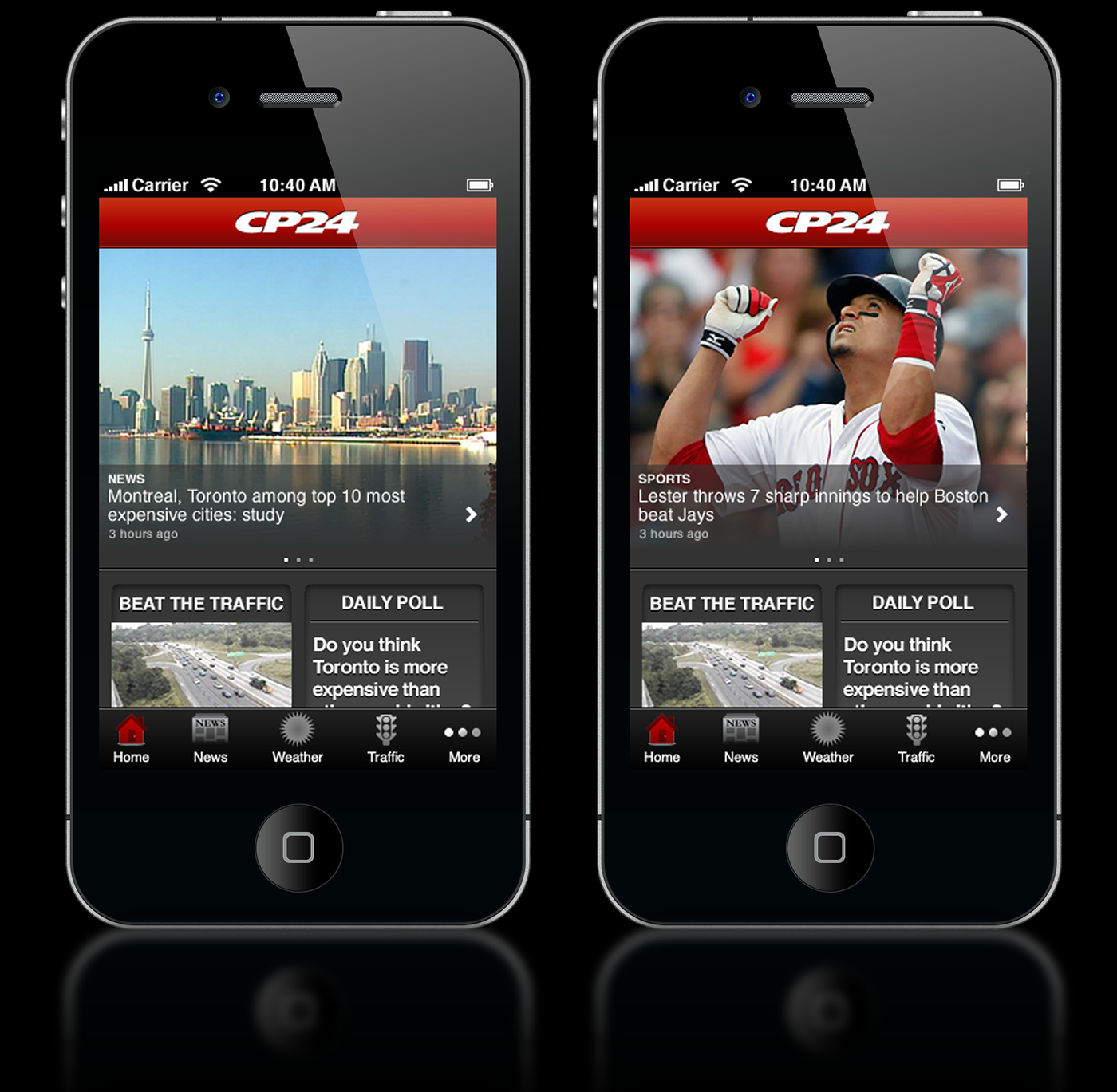 CP24 iPhone App on Behance