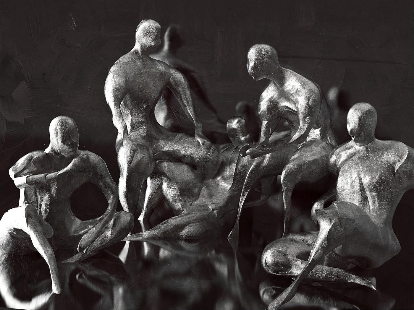 3D Rendering,ILLUSTRATION ,sculpture