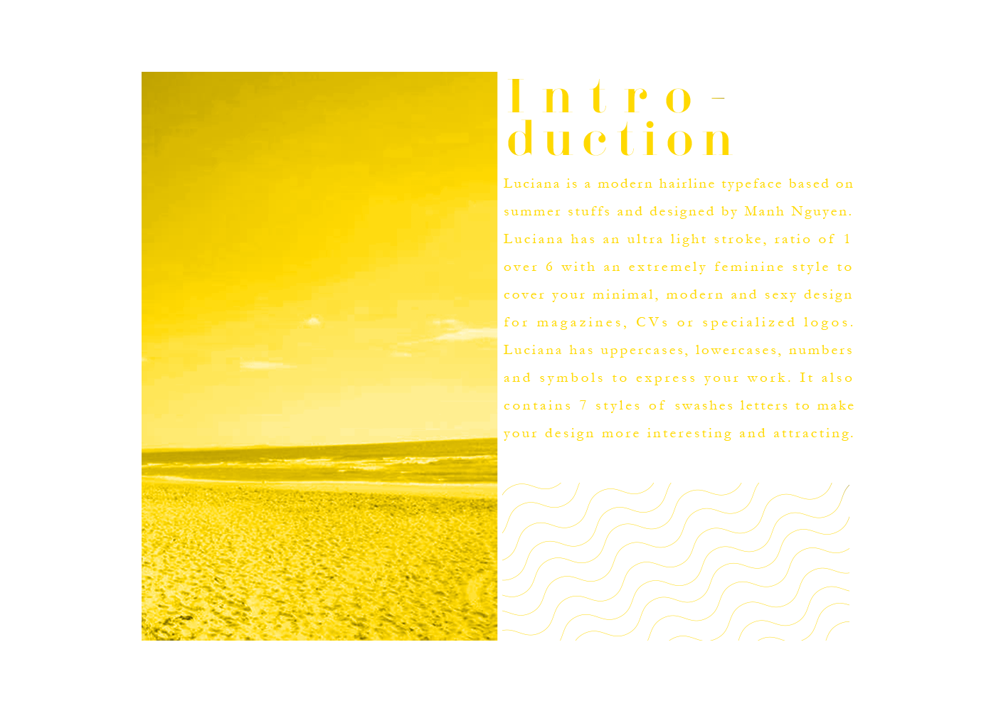 type Typeface font free fonts download luciana Zin zinartwork Layout yellow black