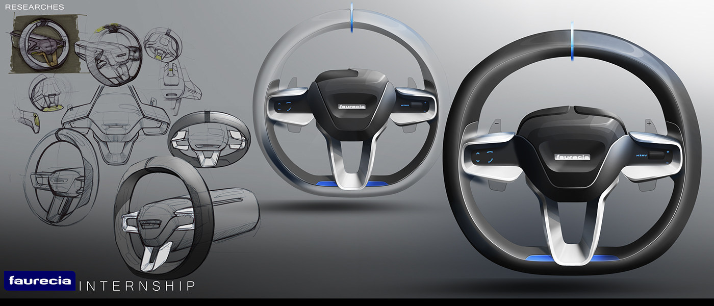 Final Design Realized In Faurecia Interior System, Done By The Design Team,