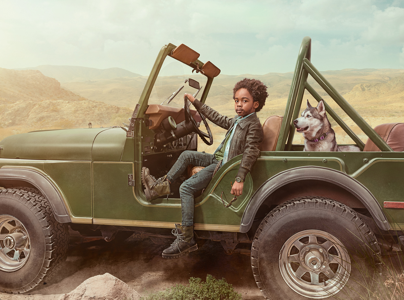 color grading compositing ad campaign cinematic Creative Retouching environmental portraits