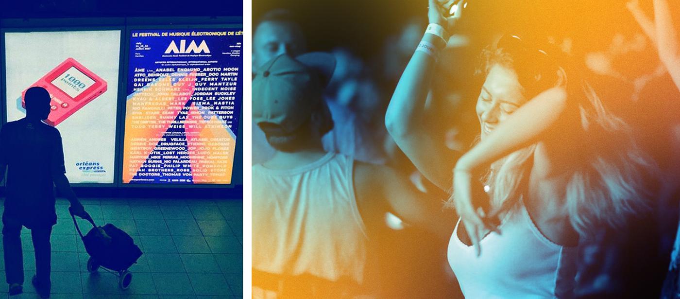 AIM festival branding  geometric Transparency poster motiondesgin ArtDirection Desgin typography