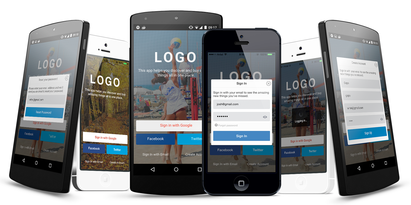 Mobile Themes mobile components login signup signin Forgot Password Mobile Templates ionic themes Ionic ionic framework
