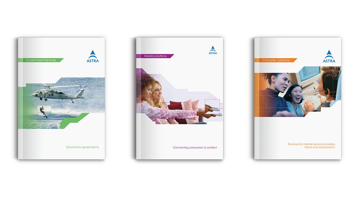 ses SES ASTRA branding  Graphic Designer