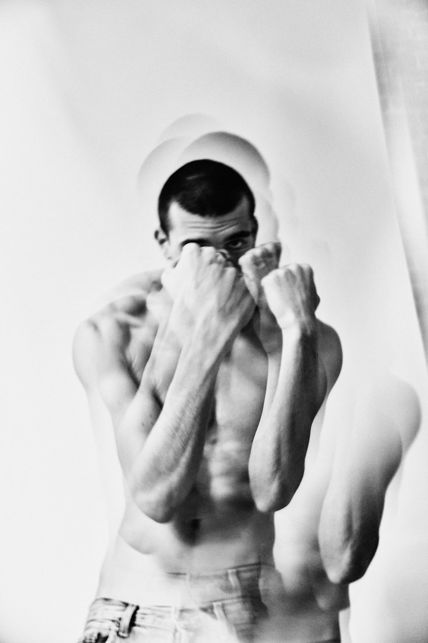 dancer fight fine art monochrome portrait print psychedelic