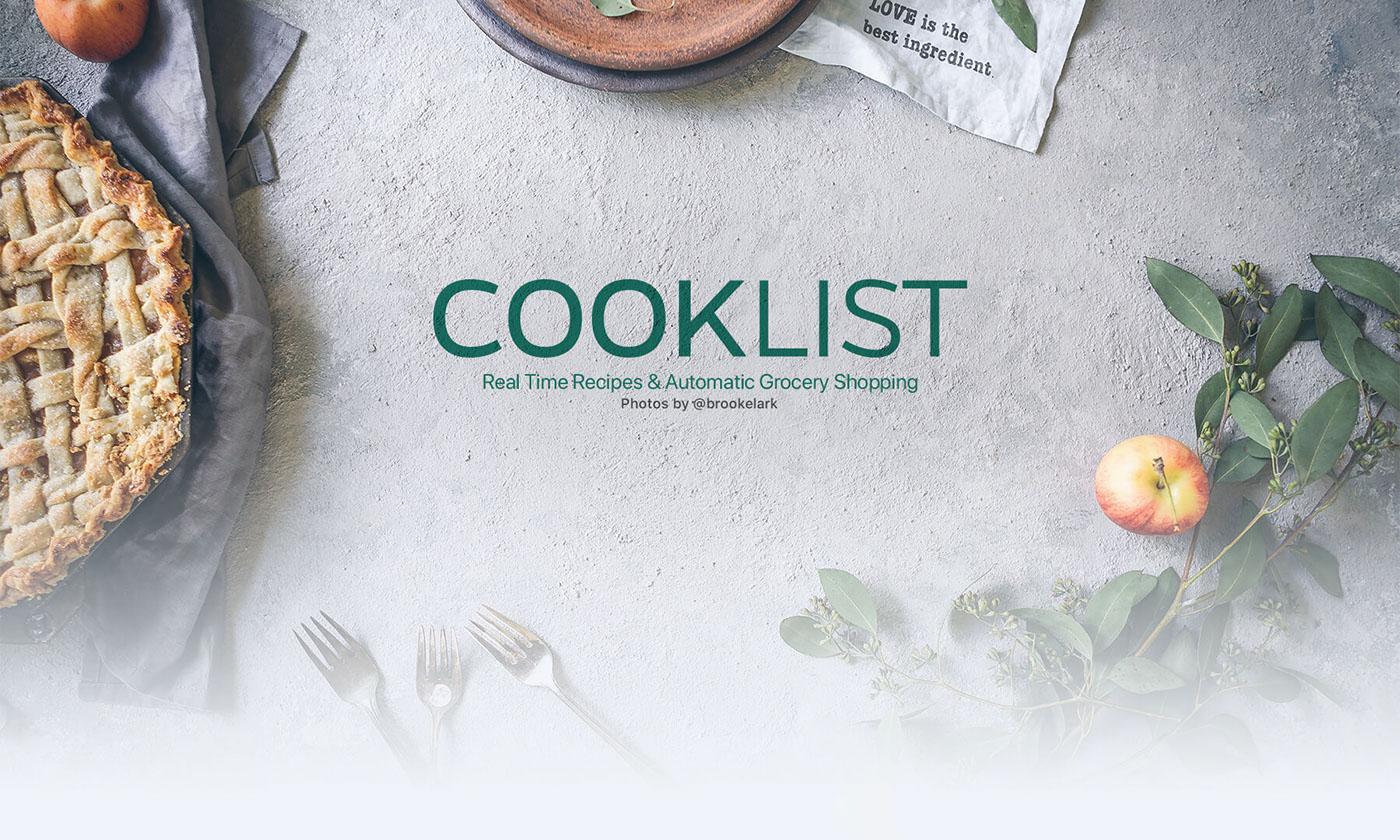 UI ux iOS App Food  cooklist user experience app design app ios Native