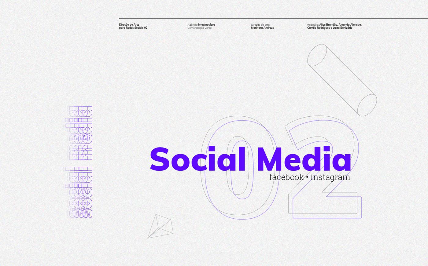 Socialmedia ArtDirection facebook instagram grid Project